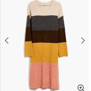 Madewell Color block Midi dress